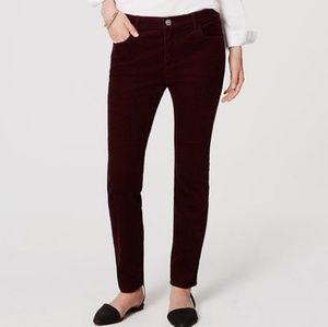 Loft Modern Skinny Corduroy Pants